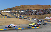 Jun. 21, 2009; Sonoma, CA, USA; NASCAR Sprint Cup Series driver Reed Sorenson (43) during the SaveMart 350 at Infineon Raceway. Mandatory Credit: Mark J. Rebilas-