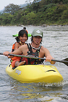 Endless Adventure's River Day on the Rio Quijos near the village Borja in eastern Ecuador.