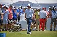 Jordan Spieth (USA) looks over his tee shot on 2 during round 1 of the AT&amp;T Byron Nelson, Trinity Forest Golf Club, at Dallas, Texas, USA. 5/17/2018.<br /> Picture: Golffile | Ken Murray<br /> <br /> <br /> All photo usage must carry mandatory copyright credit (&copy; Golffile | Ken Murray)
