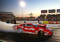 Sep 27, 2013; Madison, IL, USA; NHRA pro stock driver Rickie Jones during qualifying for the Midwest Nationals at Gateway Motorsports Park. Mandatory Credit: Mark J. Rebilas-