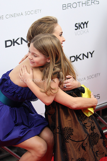 WWW.ACEPIXS.COM . . . . .  ....November 22 2009, New York City....(L-R) Actors Bailee Madison, Natalie Portman and Taylor Geare at The Cinema Society, Details and DKNY screening of 'Brothers' at the SVA Theater on November 22, 2009 in New York City.....Please byline: NANCY RIVERA- ACEPIXS.COM.... *** ***..Ace Pictures, Inc:  ..Tel: 646 769 0430..e-mail: info@acepixs.com..web: http://www.acepixs.com