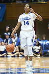 27 January 2013: Duke's Ka'lia Johnson. The Duke University Blue Devils played the Boston College Eagles at Cameron Indoor Stadium in Durham, North Carolina in an NCAA Division I Women's Basketball game. Duke won the game 80-56.