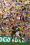 Kieran Donaghy with the ball in the All-Ireland Football Final against Donegal in Croke Park 2014.<br /> Photo: Don MacMonagle<br /> <br /> <br /> Photo: Don MacMonagle <br /> e: info@macmonagle.com