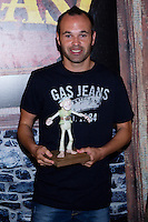 23.07.2012. Presentation of the animated film 'Pirates' in which puts his voice Andres Iniesta, player of FC Barcelona and the Spanish football team, in their family Wineries in Fuentealbilla (Albacete-Spain). In the image Andres Iniesta (Alterphotos/Marta Gonzalez) /NortePhoto.com*<br />
