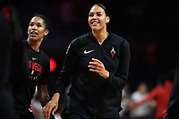 Washington, DC - July 13, 2019: Las Vegas Aces center Liz Cambage (8) during warm up's before game between Las Vegas Aces and Washington Mystics at the Entertainment & Sports Arena in Washington, DC. (Photo by Phil Peters/Media Images International)