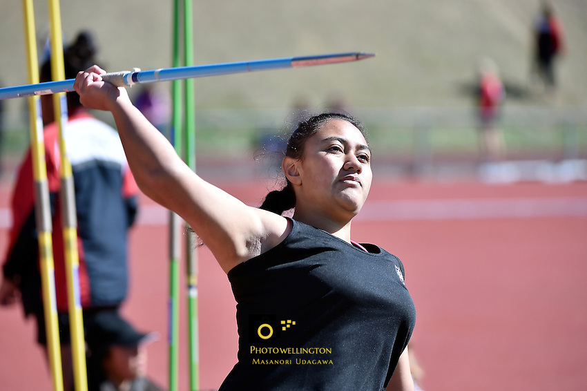 Action from the Athletics - CSW Regional Championships at Newtown Park, Newtown, Wellington, New Zealand on Wednesday 18 March 2015. <br /> Photo by Masanori Udagawa. <br /> www.photowellington.photoshelter.com.
