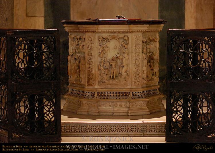 Baptismal Font Pisano Baptistry of San Giovanni Florence