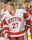 Bryan Ewing - The Boston University Terriers defeated the Boston College Eagles 2-1 in overtime in the March 18, 2006 Hockey East Final at the TD Banknorth Garden in Boston, MA.
