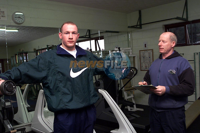 Eoin Collins training in the Boyne Health Studio with Danny Reilly, propieter Boyne Health Studio..Picture Paul Mohan Newsfile