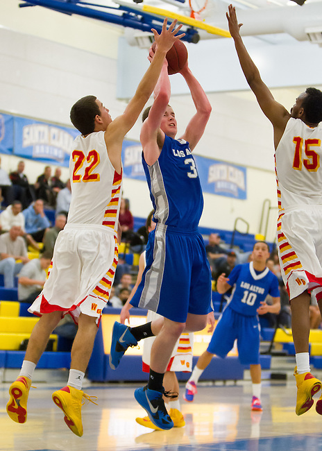 Los Altos HS vs Willow Glen HS at Santa Clara HS in the CCS Division II semi-finals.  Feb. 26, 2013.  Los Altos loses 57-59.....31  Steven Garverick