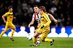 Nederland, Eindhoven, 31 maart 2012.Eredivisie.Seizoen 2011-2012.PSV-VVV 2-0.Robert Cullen van VVV in duel om de bal met Erik Pieters van PSV
