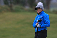 Ffion Tynan (WAL) on the 1st tee during Round 1 of the Irish Girls U18 Open Stroke Play Championship at Roganstown Golf &amp; Country Club, Dublin, Ireland. 05/04/19 <br /> Picture:  Thos Caffrey / www.golffile.ie