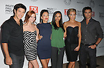 Michael Rady,Ashlee Simpson-Wentz,Stephanie Jacobsen,Jessica Lucas, Katie Cassidy & Colin Egglesfield at The Paley Fest : Fall TV Preview Party presented by TV Guide of The CW - The Vampire Diaries & Melrose Place held at The Paley Center in Beverly Hills, California on September 14,2009                                                                   Copyright 2009 DVS / RockinExposures