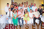 BABY JOY: Proud parents Johnny Curtin (originally Castleisland) and Louise Murphy, Liverpool, England (seated centre) of little Orlagh who was Christening by Dr Dan Riordan at St John's and St Stephen's Church, Castleisland and celebrated afterwards with family and friends at Crown hotel, Castleisland on Saturday.