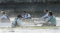PUTNEY, LONDON, ENGLAND, 05.03.2006, CUBC; Cambridge, [foreground]stroke Kip McDaniel and cox Peter Rudge; Pre 2006 Boat Race Fixtures,.   © Peter Spurrier/Intersport-images.com[Mandatory Credit Peter Spurrier/ Intersport Images] Varsity Boat Race, Rowing Course: River Thames, Championship course, Putney to Mortlake 4.25 Miles