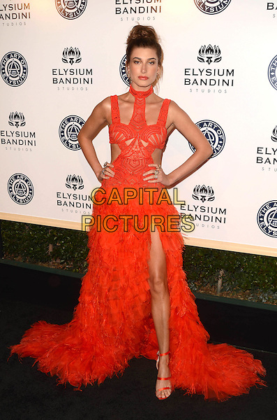 LOS ANGELES, CA - JANUARY 7: Hailey Baldwin at the The Art Of Elysium Tenth Annual Celebration 'Heaven' Charity Gala at Red Studios in Los Angeles, California on January 7, 2017. <br /> CAP/MPI/DE<br /> &copy;DE/MPI/Capital Pictures