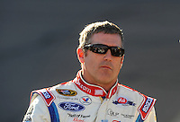 Apr 17, 2009; Avondale, AZ, USA; NASCAR Sprint Cup Series driver Bobby Labonte during qualifying for the Subway Fresh Fit 500 at Phoenix International Raceway. Mandatory Credit: Mark J. Rebilas-