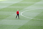FC Bayern Munchen's coach Pep Guardiola reviews the field after Champions League 2015/2016 Semi-Finals 1st leg match. April 26,2016. (ALTERPHOTOS/Acero)