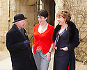 Joanne Harris and Kathy Lette,Australian author  at Christchurch College at The Oxford Literary Festival 2010.CREDIT Geraint Lewis