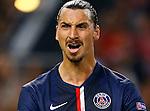 Nederland, Amsterdam, 17 september 2014<br /> Champions League groep F <br /> Ajax-Paris Saint-Germain (1-1)<br /> Zlatan Ibrahimovic van Paris Saint-Germain is boos