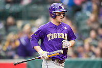 LSU Tigers shortstop Alex Bregman (8) during the NCAA baseball game against the Baylor Bears on March 7, 2015 in the Houston College Classic at Minute Maid Park in Houston, Texas. LSU defeated Baylor 2-0. (Andrew Woolley/Four Seam Images)