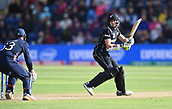 Jun 6th, The SSE SWALEC, Cardiff, Wales; ICC Champions Trophy; England versus New Zealand;  Jos Buttler of England stumps Mitchell Santner of New Zealand