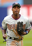3 April 2006: Alfonso Soriano, outfielder for the Washington Nationals, returns to the dugout during Opening Day play against the New York Mets at Shea Stadium, in Flushing, New York. The Mets defeated the Nationals 3-2 to lead off the 2006 MLB season...Mandatory Photo Credit: Ed Wolfstein Photo..
