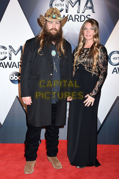 4 November 2015 - Nashville, Tennessee - Chris Stapleton, Morgane Stapleton. 49th CMA Awards, Country Music's Biggest Night, held at Bridgestone Arena. <br /> CAP/ADM/LF<br /> &copy;LF/ADM/Capital Pictures