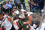 GP Deutschland during the World Championship 2014.<br /> Sachsering, Germany.<br /> races<br /> estefan bradl<br /> Rafa Marrodán by PHOTOCALL3000