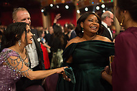 Salma Hayek talks with Oscar&reg;-nominee Octavia Spencer during the live ABC Telecast of the 90th Oscars&reg; at the Dolby&reg; Theatre in Hollywood, CA on Sunday, March 4, 2018.<br /> *Editorial Use Only*<br /> CAP/PLF/AMPAS<br /> Supplied by Capital Pictures