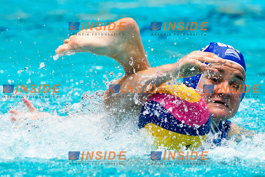 Eindhoven , Netherlands (Netherlands) 16 - 29 January 2012.LEN European  Water Polo Championships 2012.Day 11 - Women.Hungary  (White) - Greece  (Blue)..GRE.12 LARA Georgia..Photo Insidefoto / Giorgio Scala