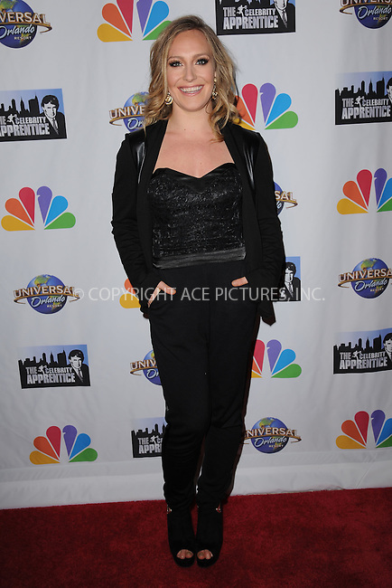 WWW.ACEPIXS.COM<br /> February 16, 2015 New York City<br /> <br /> Jamie Anderson arriving to the Celebrity Apprentice Finale viewing party and post show red carpet on February 16, 2015 in New York City.<br /> <br /> Please byline: Kristin Callahan/AcePictures<br /> <br /> ACEPIXS.COM<br /> <br /> Tel: (646) 769 0430<br /> e-mail: info@acepixs.com<br /> web: http://www.acepixs.com