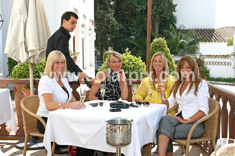 "**ALL-ROUND EXCLUSIVE  PICTURES FROM SOLARPIX.COM**.*WORLDWIDE RIGHTS*.""Marbella Belles"" a new six part documentary series for ITV1 with Narration by Dennis Waterman.The programe follows British women who have turned their backs on the UK for The Costa Del Sol Spain..Pics show .Lisa Johnson 38 (Yellow top) Loiuse Marriott 41(White Blazer grey Trousers) Jo Alexandrou 41 (White Top Black trousers)Louise Truelove 41(Black & white top white Jeans).In Puerto Banus Marbella..JOB REF:  3520        ABI        DATE:16.3.07.**MUST CREDIT SOLARPIX.COM OR DOUBLE FEE WILL BE CHARGED* *UNDER NO CIRCUMSTANCES IS THIS IMAGE TO BE REPRODUCED FOR ANY ONLINE EDITION WITHOUT PRIOR PERMISSION*"