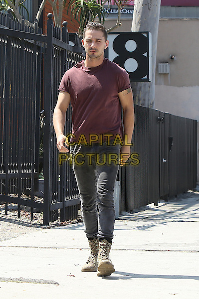 HOLLYWOOD, CA - JULY 10: Shia LaBeouf seen arriving for a work out at a gym in Hollywood, California on July 10, 2014. <br /> CAP/MPI/JM<br /> &copy;John Misa/MediaPunch/Capital Pictures