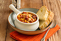 White bean stew served with french bread
