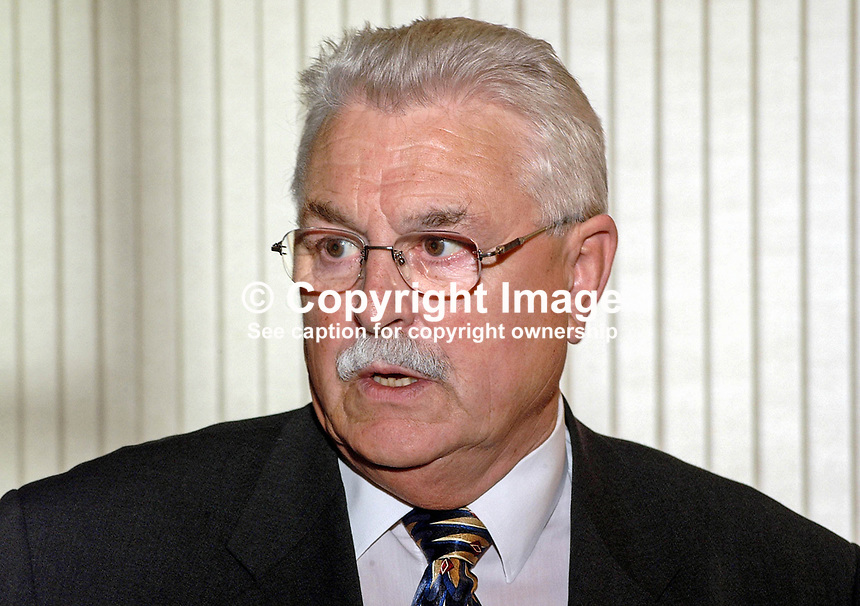 Ken Maginnis, MP, Westminster, Ulster Unionist, Fermanagh and South Tyrone. Retired June 2001 election. Ref: 2001051923..Copyright Image from Victor Patterson, 54 Dorchester Park, Belfast, UK, BT9 6RJ..Tel: +44 28 9066 1296.Mob: +44 7802 353836.Voicemail +44 20 8816 7153.Skype: victorpattersonbelfast.Email: victorpatterson@mac.com.Email: victorpatterson@ireland.com (back-up)..IMPORTANT: If you wish to use this image or any other of my images please go to www.victorpatterson.com and click on the Terms & Conditions. Then contact me by email or phone with the reference number(s) of the image(s) concerned.