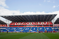 General view during Wales national team training ahead of the World Cup Qualification match against Republic of Ireland at Cardiff City Stadium, Cardiff, Wales on 8 October 2017. Photo by Mark  Hawkins.