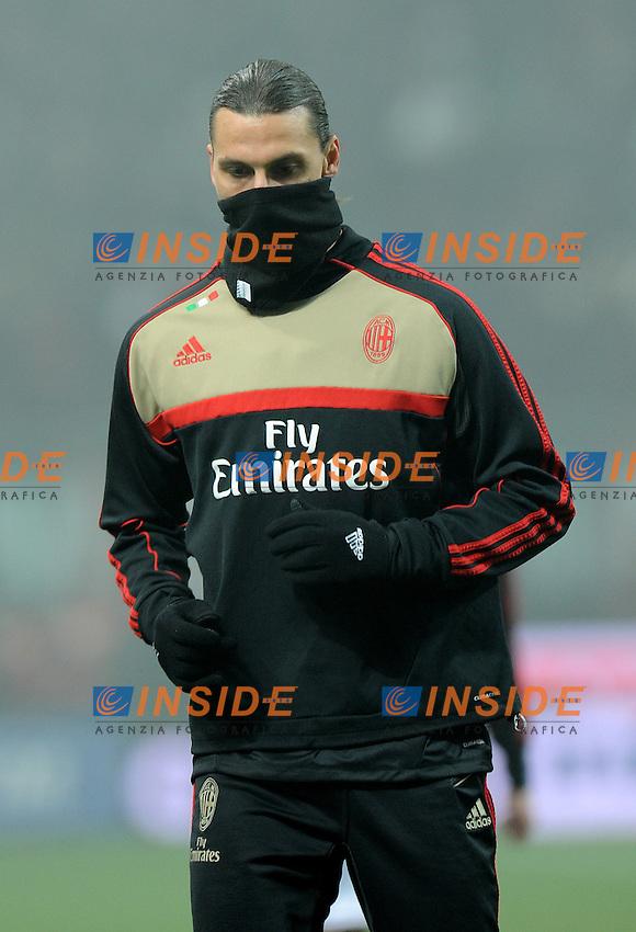 "Zlatan IBRAHIMOVIC (Milan).Milano 15/1/2012 Stadio ""Giuseppe Meazza"".Serie A 2011/2012.Football Calcio Milan Vs Inter.Foto Insidefoto Alessandro Sabattini."