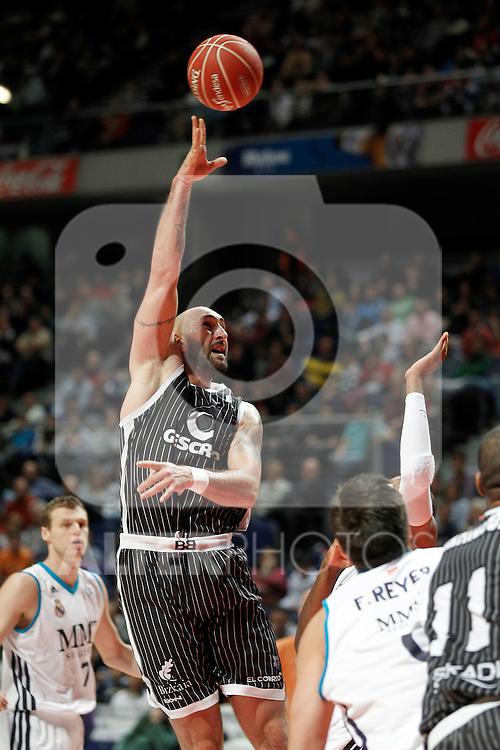 Gescrap Bizkaia Bilbao Basket's Milovan Rakovic during Liga Endesa ACB match.November 11,2012. (ALTERPHOTOS/Acero)