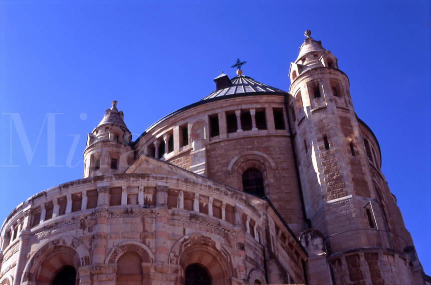 The Dormition Abbey just outside of the Old City walls on Mount Zion in Jerusalem (Israel).  Dormition is Latin for The Dead of Zion.