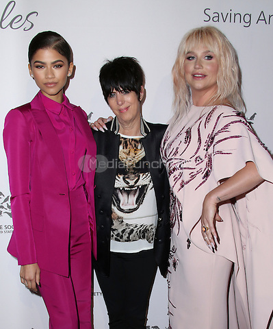 HOLLYWOOD, CA - MAY 07: kesha, Diane Warren, Zendaya attends The Humane Society of the United States' to the Rescue Gala at Paramount Studios on May 7, 2016 in Hollywood, California. Credit: Parisa/MediaPunch.