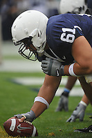 12 September 2009:  Penn State center Stefen Wisniewski (61) hikes the ball.  The Penn State Nittany Lions defeated the Syracuse Orangemen 28-7 at Beaver Stadium in State College, PA..