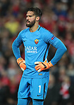 Dejected Alisson Becker of Roma during the Champions League Semi Final 1st Leg match at Anfield Stadium, Liverpool. Picture date: 24th April 2018. Picture credit should read: Simon Bellis/Sportimage
