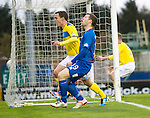 Inverness Caledonian Thistle v St Johnstone...27.10.12      SPL.David Robertson celebrates his late equaliser as Gavin Morrison despiars.Picture by Graeme Hart..Copyright Perthshire Picture Agency.Tel: 01738 623350  Mobile: 07990 594431