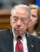 United States Senator Chuck Grassley (Republican of Iowa), Chairman, US Senate Committee on the Judiciary, presides during an executive business meeting on Capitol Hill in Washington, DC on Thursday, March 17, 2016.  Grassley repeated he will not conduct confirmation hearings on the nomination of Judge Merrick Garland as Associate Justice of the US Supreme Court replacing Justice Antonin Scalia. <br /> Credit: Ron Sachs / CNP