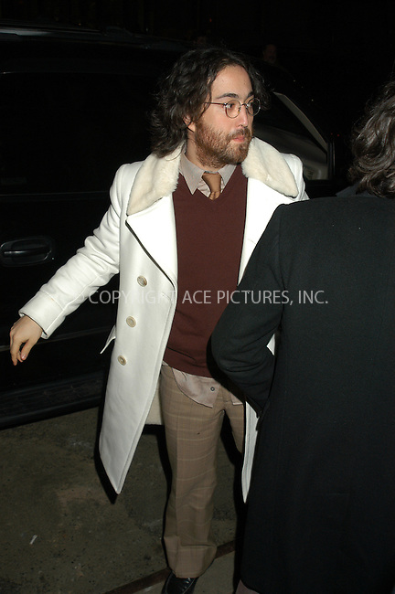 WWW.ACEPIXS.COM . . . . . ....NEW YORK, MARCH 15, 2005....Sean Lennon at the kick off of the 2005 Cipriani Wall Street Concert Series with Rod Stewart performing at Cipriani Wall Street.....Please byline: KRISTIN CALLAHAN - ACE PICTURES.. . . . . . ..Ace Pictures, Inc:  ..Philip Vaughan (646) 769-0430..e-mail: info@acepixs.com..web: http://www.acepixs.com