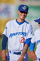 Jose Chacin (26) of the Ogden Raptors before the game against the Orem Owlz at Lindquist Field on June 19, 2018 in Ogden, Utah. The Raptors defeated the Owlz 7-2. (Stephen Smith/Four Seam Images)