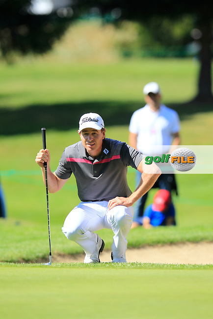 Brett Rumford (AUS) at the 15th green during Saturday's Round 3 of the 2014 Omega European Masters held at the Crans Montana Golf Club, Crans-sur-Sierre, Switzerland.: Picture Eoin Clarke, www.golffile.ie: 6th September 2014