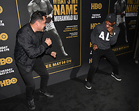 "08 May 2019 - Los Angeles, California - Oscar de la Hoya, Sugar Ray Leonard. ""What's My Name: Muhammad Ali"" HBO Premiere held at Regal Cinemas LA LIVE 14. Photo Credit: Billy Bennight/AdMedia"