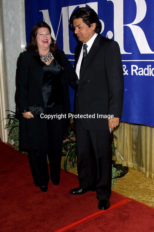 ©2002 KATHY HUTCHINS / HUTCHINS PHOTO.MUSEUM OF TV AND RADIO GALA.IHO TED DANSON & DICK WOLF.BEVERLY HILLS, CA.SEPTEMBER 29, 2002..GEORGE LOPEZ, WIFE.